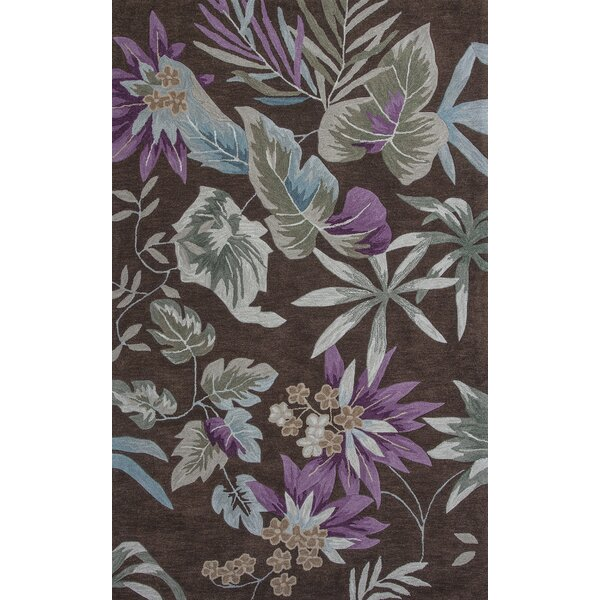 Roselawn Mocha Foliage Area Rug by Bay Isle Home