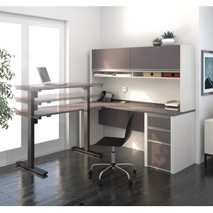 Read Reviews Karla L-Shape Desk Office Suite with Hutch by Latitude Run