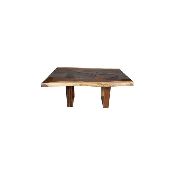 Jaquelin Live Edge Solid Wood Dining Table by Loon Peak