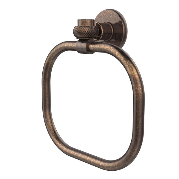 Continental Wall Mounted Towel Ring with Twist Detail by Allied Brass
