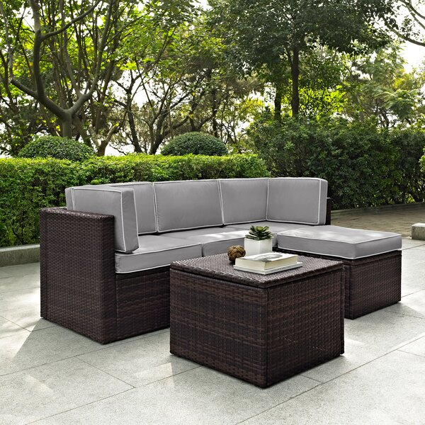 Belton 5 Piece Sectional Seating Group with Cushions by Mercury Row