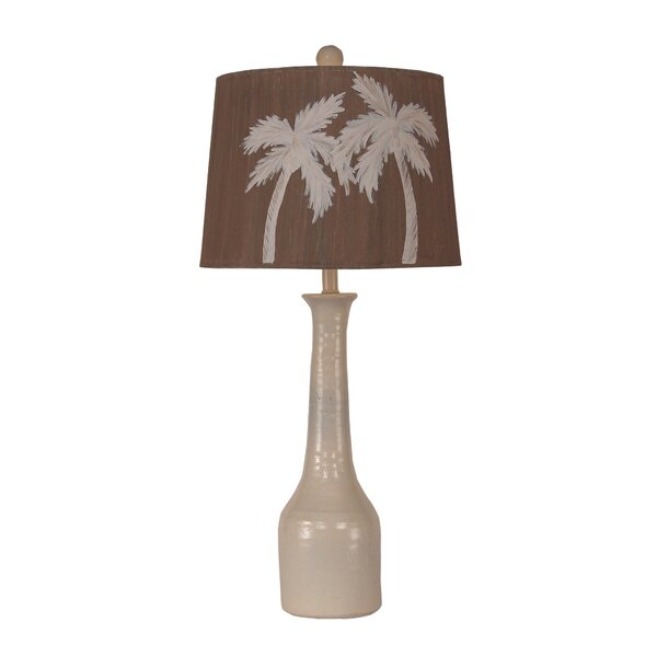 Pawtucket Slender Neck Textured Pottery 30 Table Lamp by Bay Isle Home