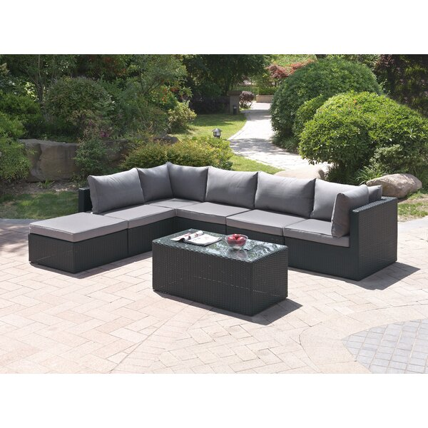 7 Piece Sectional Set with Cushions by JB Patio
