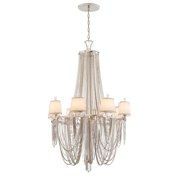 Flirt 8-Light Shaded Empire Chandelier by Corbett Lighting Corbett Lighting