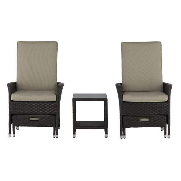 Laguna 5 Piece Conversation Set with Cushions by Serta at Home