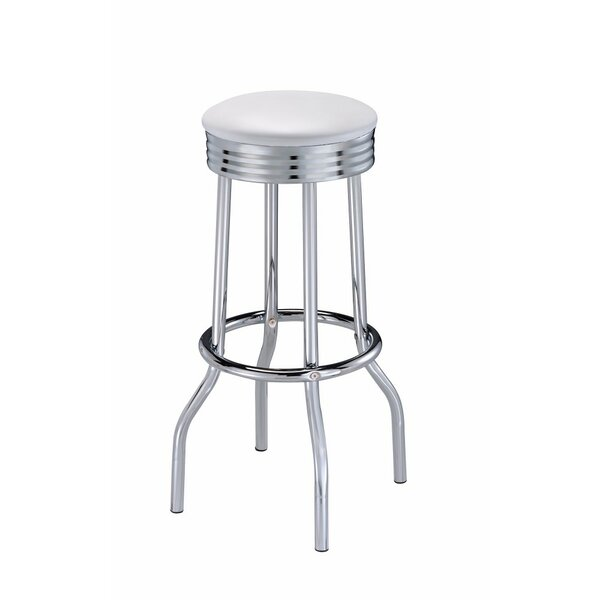 Hunter Metal Retro Ribbed 31 Bar Stool (Set of 2) by Wrought Studio