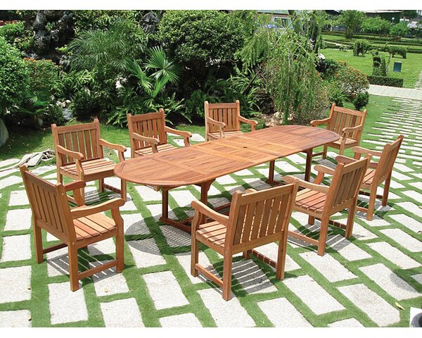 Amabel 9 Piece Dining Set by Beachcrest Home