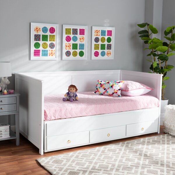 Curra King Solid Wood Daybed By Harriet Bee
