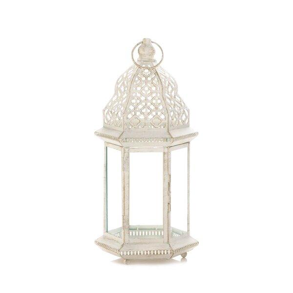 Iron/Glass Lantern by Bungalow Rose