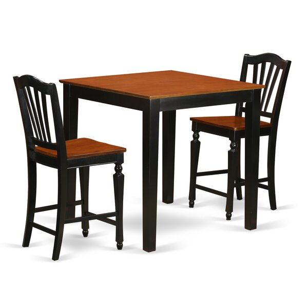 Steffan 3 Piece Counter Height Pub Table Set by Charlton Home Charlton Home