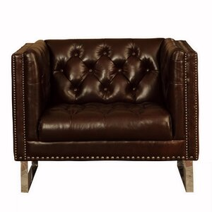 Lazzaro Leather Bordeaux Club Chair