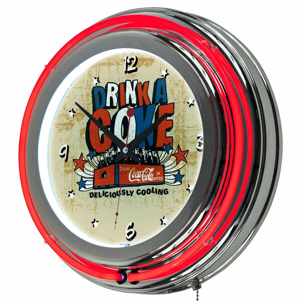 Coca Cola Brazil 14.5 Wall Clock by Trademark Global