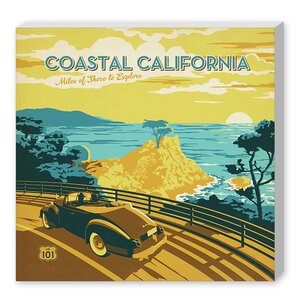 Coastal Ca  Vintage Advertisement on Wrapped Canvas by East Urban Home