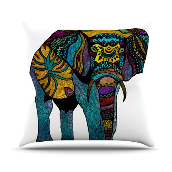 Elephant of Namibia Outdoor Throw Pillow by KESS InHouse