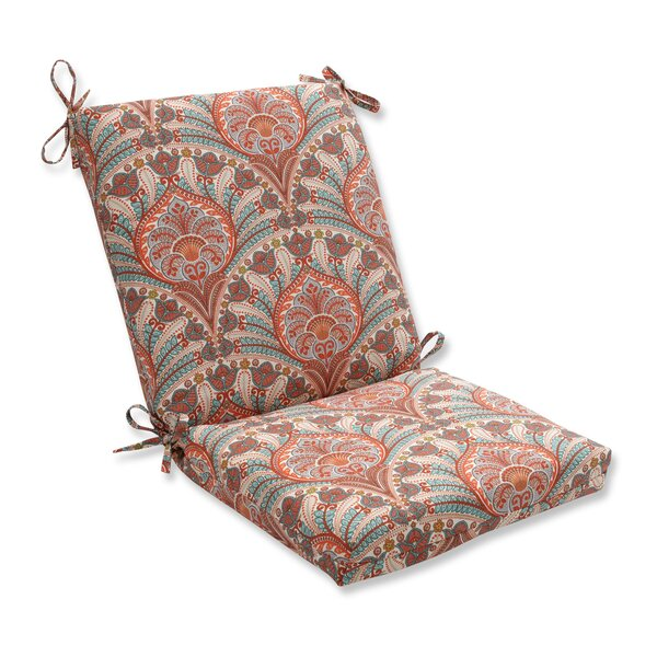 Crescent Beach Indoor/Outdoor Dining Chair Cushion by Pillow Perfect