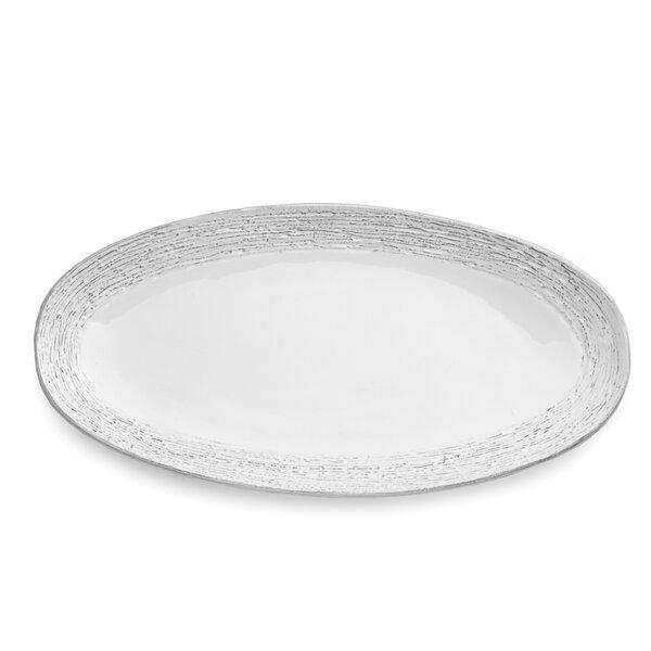 Graffiata Oval Platter by Arte Italica