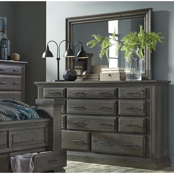 Leesa 11 Drawer Dresser with Mirror by Loon Peak