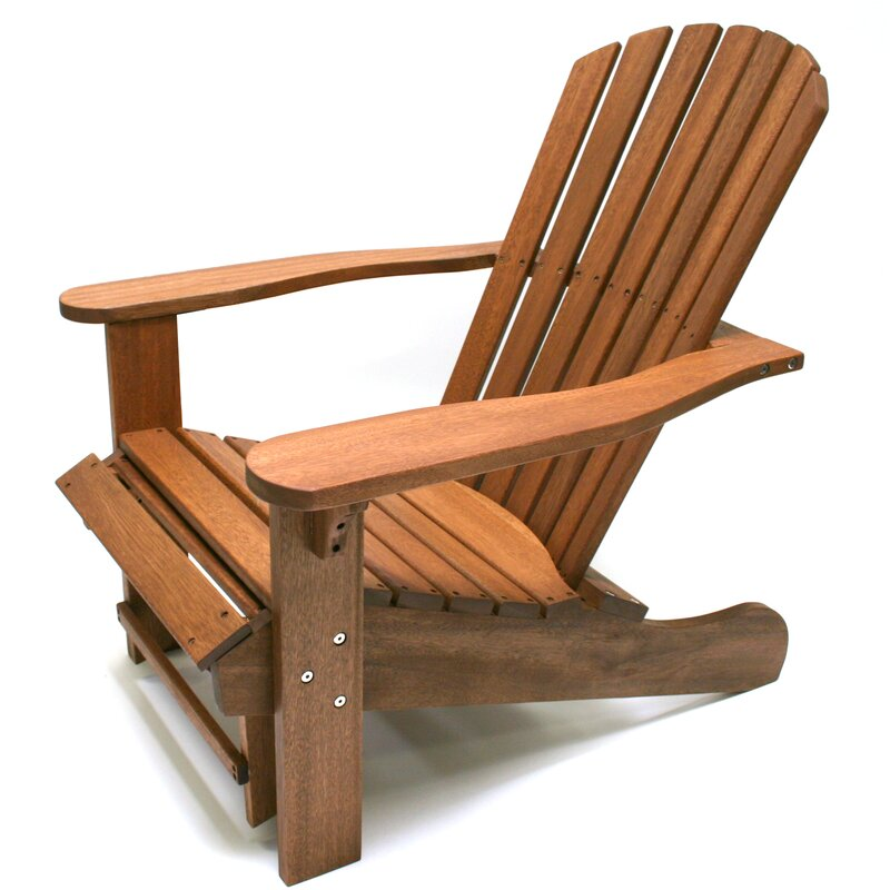 Merveilleux Solid Wood Adirondack Chair With Ottoman