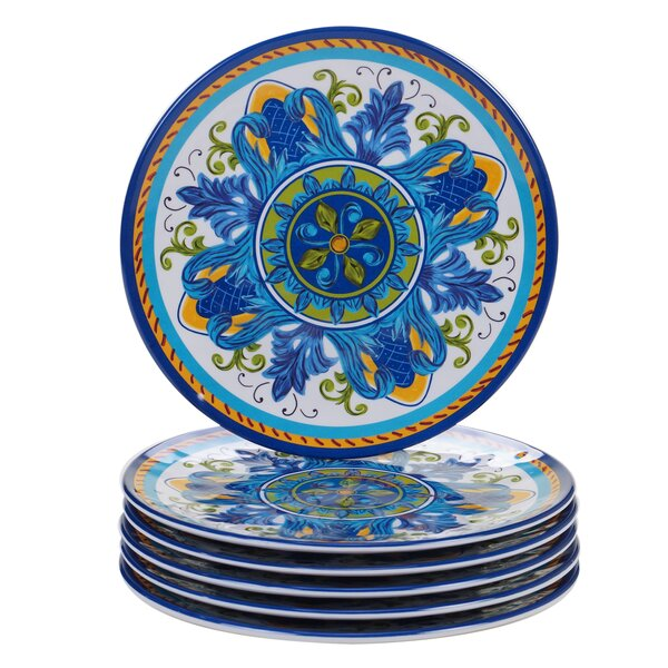 Filion Melamine Salad Plate (Set of 6) by Charlton Home
