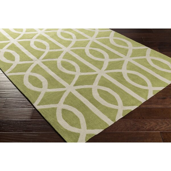 Gingrich Moss/Ivory Area Rug by Ivy Bronx