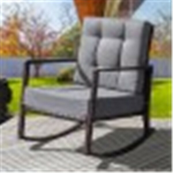 Rattan Rocking Chair with Cushions (Set of 2) by Latitude Run