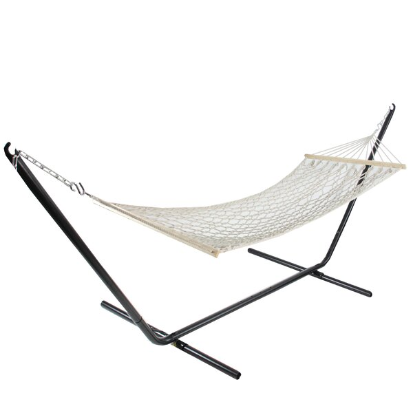 Horn Lattice Netting Tree Hammock by Bungalow Rose