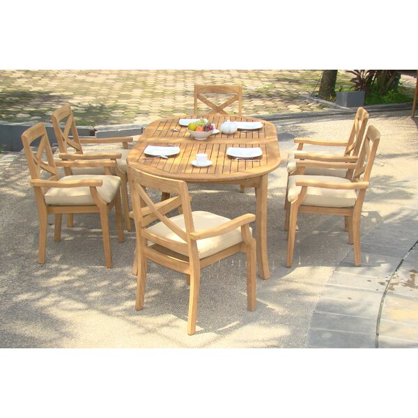 Glenn Luxurious 7 Piece Teak Dining Set by Rosecliff Heights