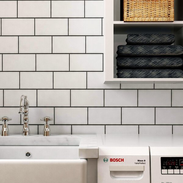 Proyecto 3.88 x 7.75 Ceramic Subway Tile in Matte Neve by EliteTile