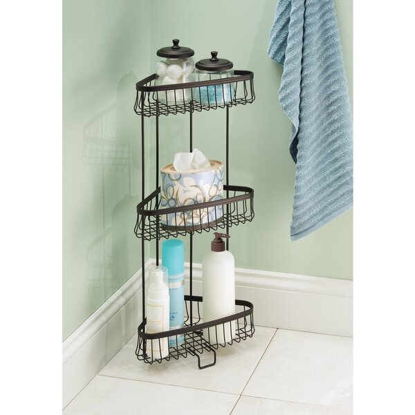 Micheal Steel Free Standing Shower Caddy by Charlton Home