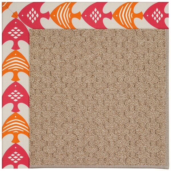 Lisle Machine Tufted Autumn/Brown Indoor/Outdoor Area Rug by Longshore Tides