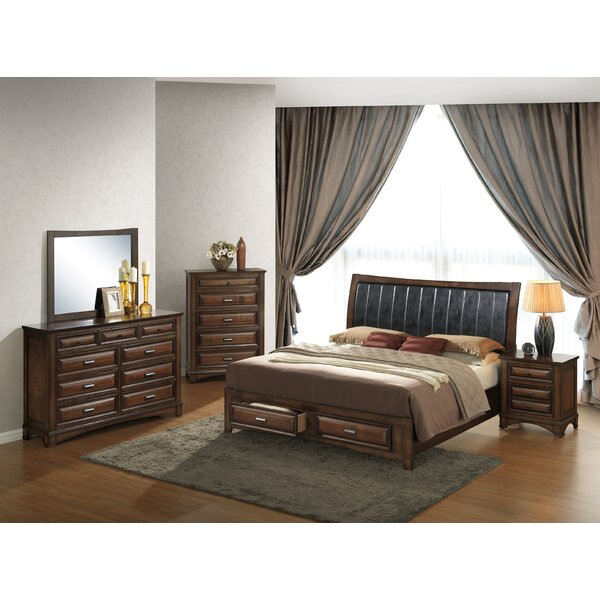 Broval King Platform 5 Piece Bedroom Set by Roundhill Furniture