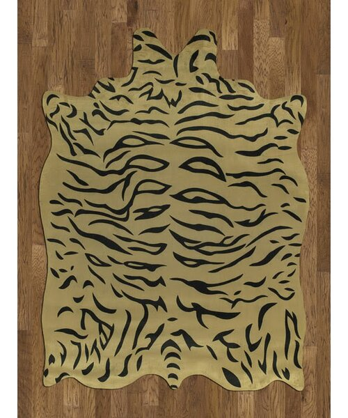 Chanler Yellow/Black Tiger Area Rug by Bloomsbury Market