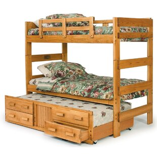 Best Price Extra Tall Twin over Twin Bunk Bed with Trundle ByChelsea Home