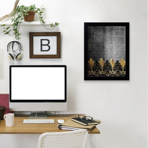 East Urban Home \'Lace Boheme 5\' Framed Graphic Art Print   Wayfair