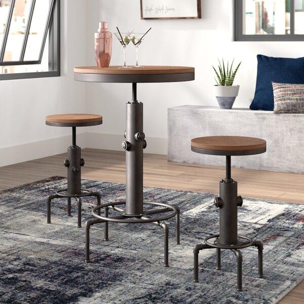 Carmona 3 Piece Adjustable Pub Table Set by Trent Austin Design