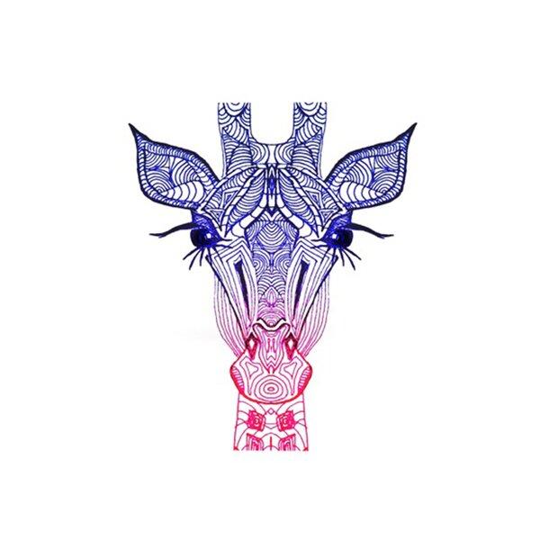 Rainbow Giraffe Placemat by KESS InHouse