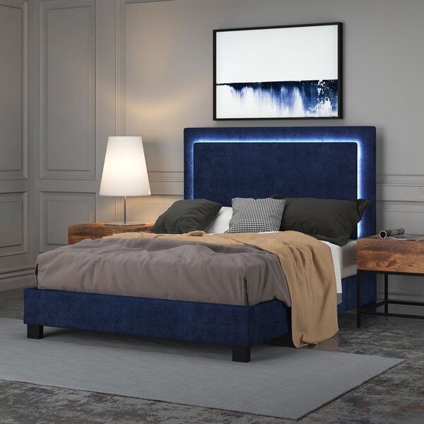 Almous Upholstered Platform Bed By Latitude Run