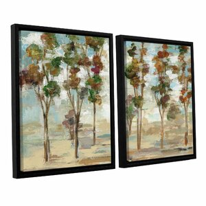 Serene Forest 2 Piece Framed Painting Print on Canvas Set by Loon Peak