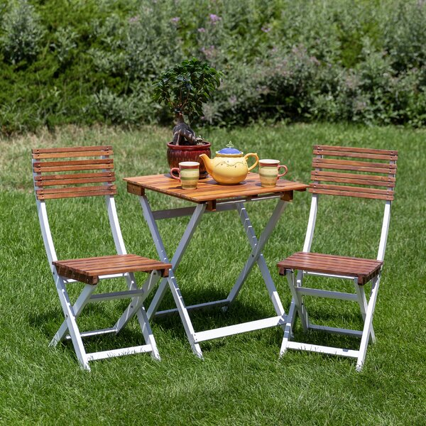 Sykes 3 Piece Bistro Set by Freeport Park