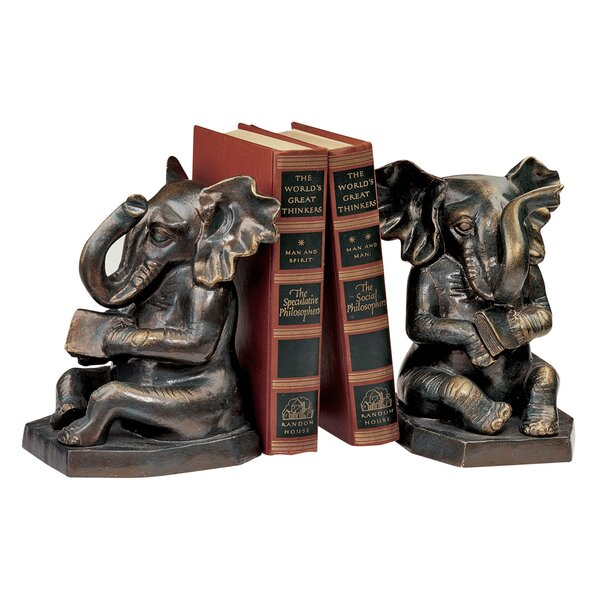 Educated Elephant Cast Iron Book End by Design Tos