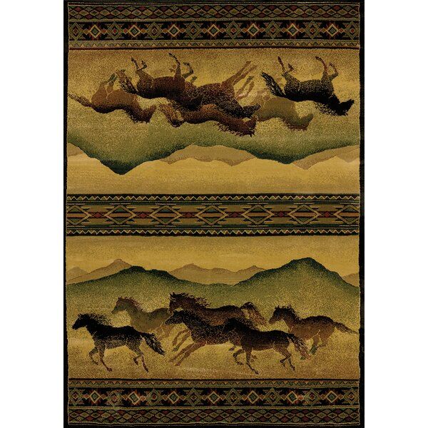 Genesis Yellow Chestnut Mare Lodge Area Rug by United Weavers of America