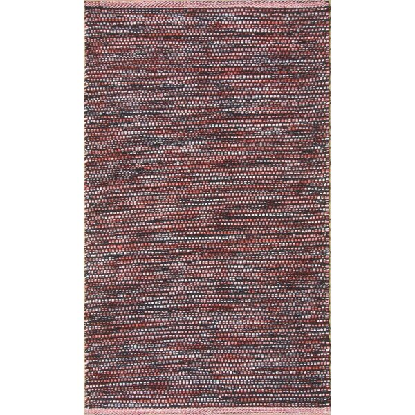 Parker Hand-Woven Red Area Rug by Rosecliff Heights