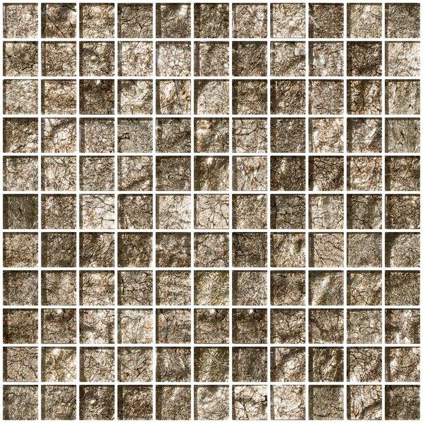 1 x 1 Glass Mosaic Tile in Espresso Brown by Susan Jablon