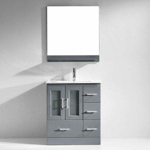 Duke 30 Single Bathroom Vanity Set with Mirror by