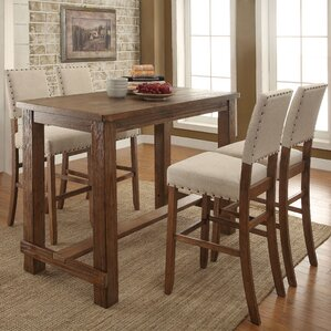 Lancaster 5 Piece Pub Table Set by Darby Home Co