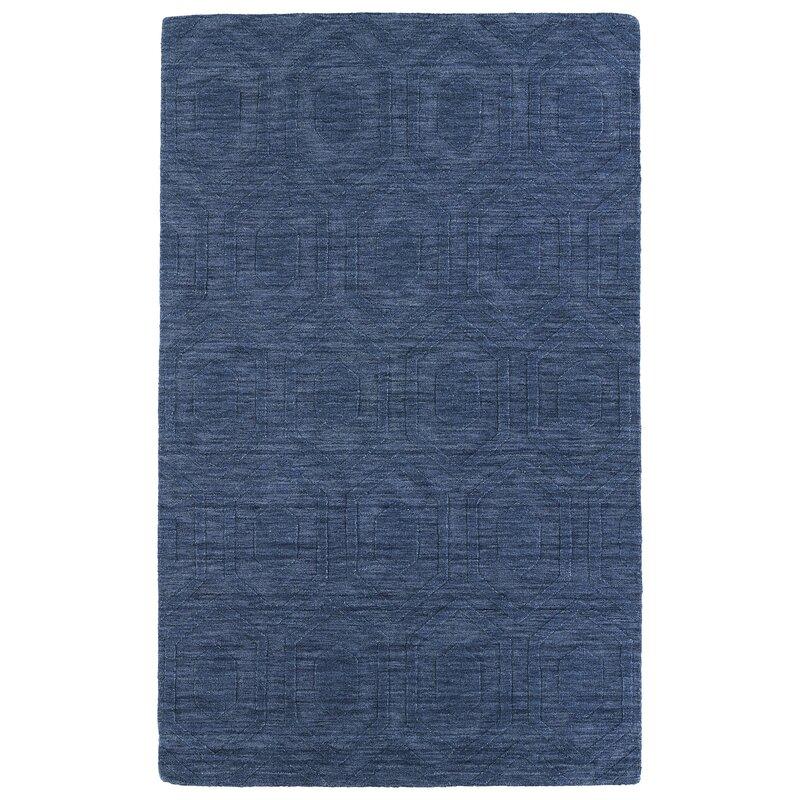 Ebern Designs Dobson Hand Tufted Blue Area Rug Reviews Wayfair
