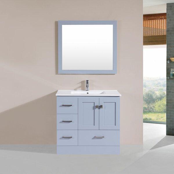Landrum 36 Single Modern Bathroom Left Side Cabinet Vanity Set by Latitude Run