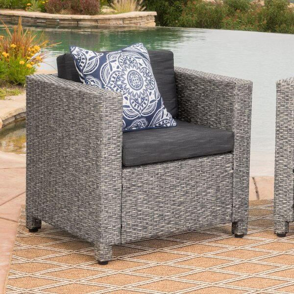 Furst Outdoor Wicker Club Chair by Wade Logan