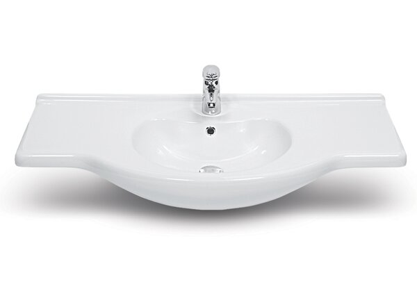 Nil Ceramic Rectangular Drop-In Bathroom Sink with Overflow by CeraStyle by Nameeks