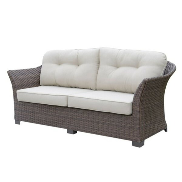 Mcevoy Patio Sofa with Cushions by Charlton Home